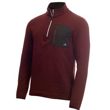 Calvin Klein Golf Gents Pinnacle ½ Zip Top Blackberry