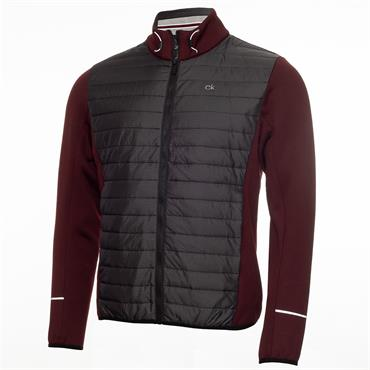 Calvin Klein Golf Gents Wrangell Hooded Hybrid Jacket Blackberry