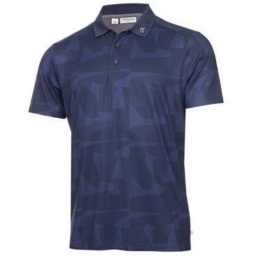 Calvin Klein Golf Gents Hexta Printed Polo Ink Navy