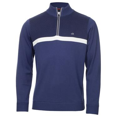 Calvin Klein Golf Gents Magnet 1/2 Zip Lined Sweater Ink