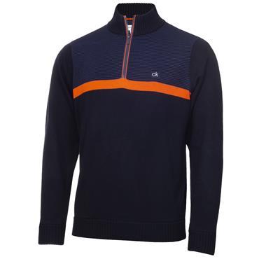 Calvin Klein Golf Gents Magnet 1/2 Zip Lined Sweater Navy Blaze