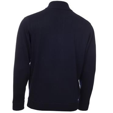 Calvin Klein Golf Gents Magnet 1/2 Zip Lined Sweater Navy - Grey
