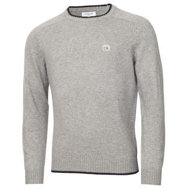 Calvin Klein Golf Gents Chunky Crew Neck Sweater Grey