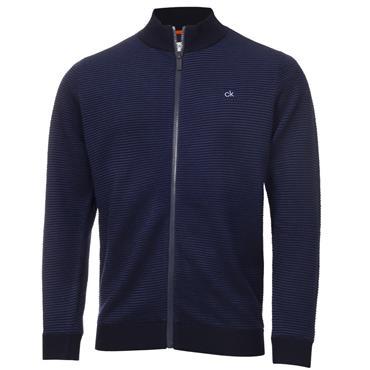 Calvin Klein Golf Gents Ottoman Full Zip Lined Sweater Navy