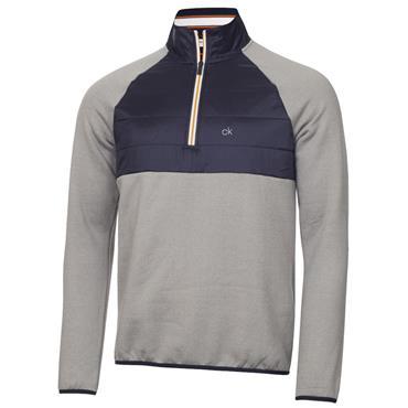 Calvin Klein Golf Gents Gravity Hybrid 1/4 Zip Top Grey