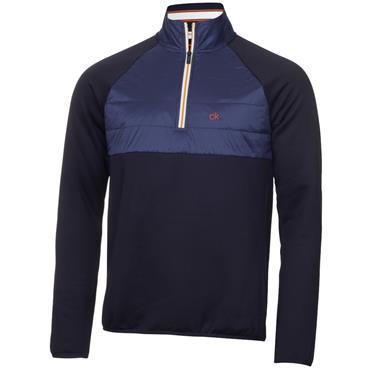 Calvin Klein Golf Gents Gravity Hybrid 1/4 Zip Top Navy