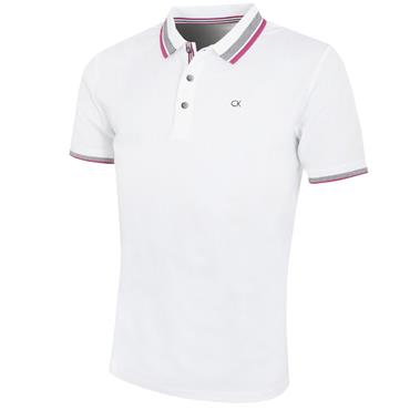Calvin Klein Golf Gent Spark Polo Shirt White - Regal