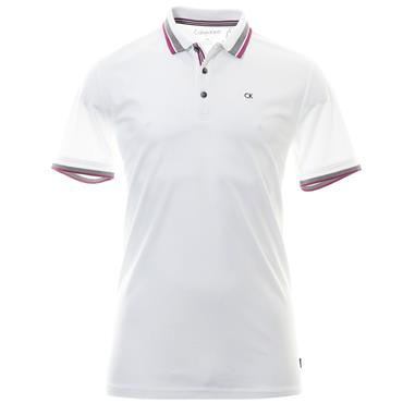 Calvin Klein Golf Gents Spark Polo Shirt White - Regal