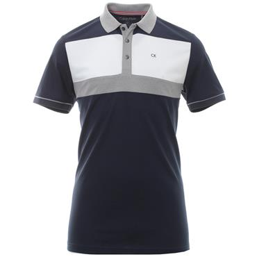 Calvin Klein Golf Gents Transit Polo Shirt Navy