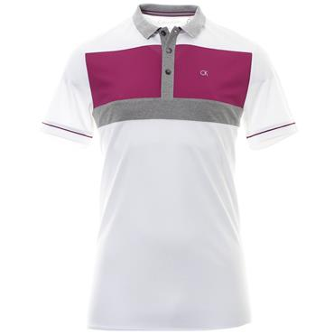 Calvin Klein Golf Gents Transit Polo Shirt White - Regal
