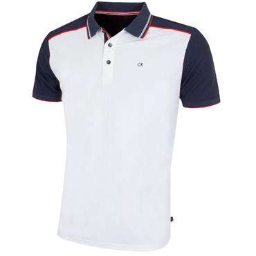 Calvin Klein Golf Gents Haze Polo Shirt White - Navy