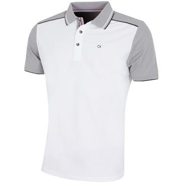 Calvin Klein Golf Gents Haze Polo Shirt White - Silver