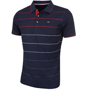 Calvin Klein Golf Gents Lazer Polo Shirt Navy - Red