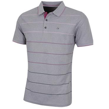 Calvin Klein Golf Gents Lazer Polo Shirt Silver - Regal