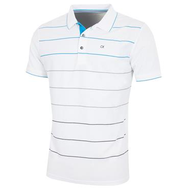 7d4dfc2310771 Calvin Klein Golf Gents Lazer Polo Shirt White - Azure ...