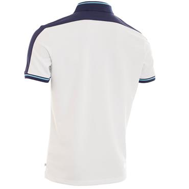 Calvin Klein Golf Gents Aerospan Polo Shirt White - Sky
