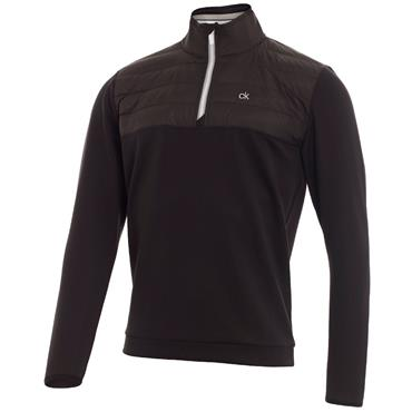 Calvin Klein Golf Gents Vector 1/2 Zip Top Black