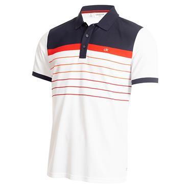 Calvin Klein Golf Gents Flint Polo Shirt White - Navy
