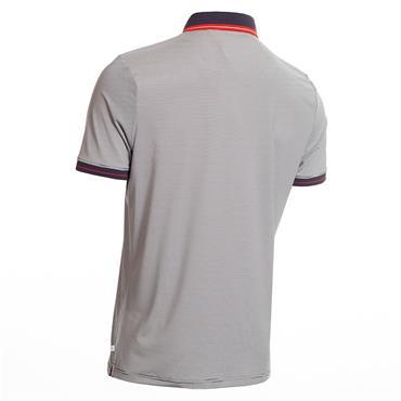 Calvin Klein Golf Gents Blade Polo Shirt Navy - White