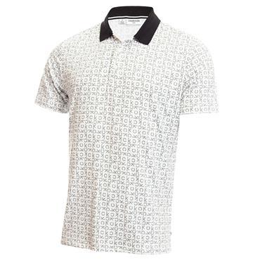 Calvin Klein Golf Gents Geo Polo Shirt White
