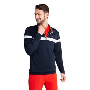 Calvin Klein Golf Gents Scale Performance ½ Zip Top Navy