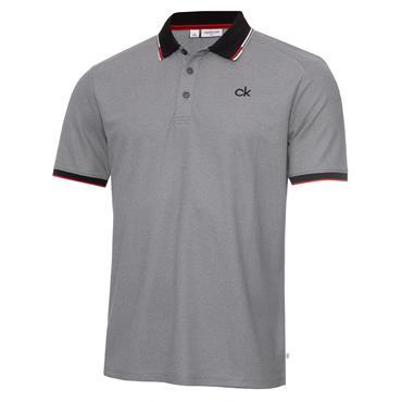 Calvin Klein Golf Gents Snead Polo Shirt Grey Power Red