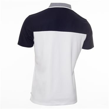 Calvin Klein Golf Gents Trevino Polo Shirt White - Navy