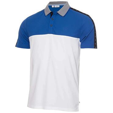 Calvin Klein Golf Gents Trevino Polo White - Nautical Blue