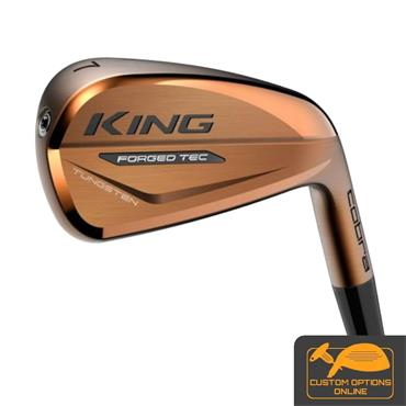 Cobra King Forged Tec Copper 7 Steel Irons 4-PW Gents RH
