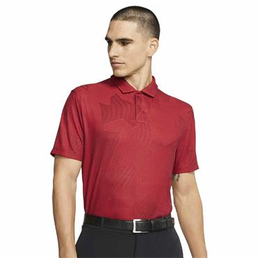 Nike Gents Dri-Fit Tiger Woods Polo Shirt Gym Red 687