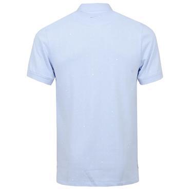 Nike Gents Polo Printed Slim Fit Hydrogen Blue