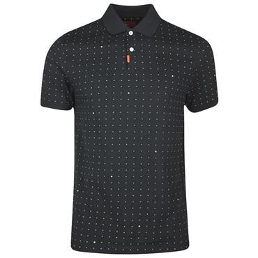 Nike Gents Polo Printed Slim Fit Shirt Black