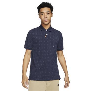 Nike Gents Polo Printed Slim Fit Shirt Obsidian