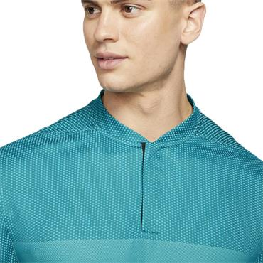 Nike Gents Dri-Fit ADV Tiger Woods Blade Polo Shirt Blustery Blue