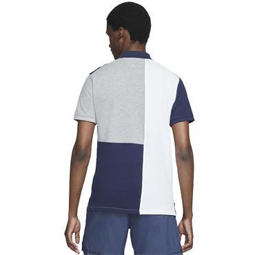 Nike Gents The Nike Colour-Blocked Slim Polo Shirt Obsidian