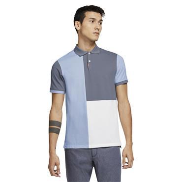 Nike Gents The Nike Colour-Blocked Slim Polo Shirt Slate - Hydrogen Blue