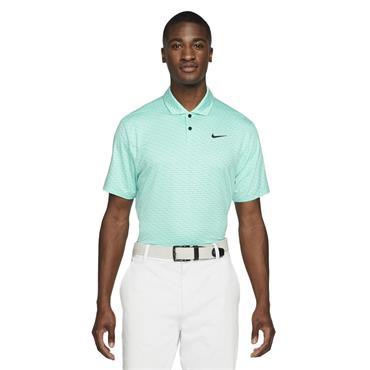 Nike Gents Dri-Fit Vapor Stripe Polo Shirt Tropical Twist - Black