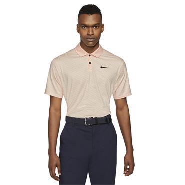 Nike Gents Dri-Fit Vapor Stripe Polo Shirt Crimson Tint - Black