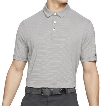 Nike Gents Dri-Fit Player Striped Polo Black