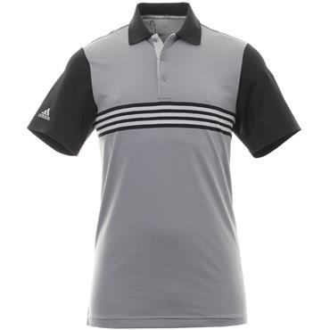 adidas Gents Ultimate 365 3-Stripe Polo Shirt Grey