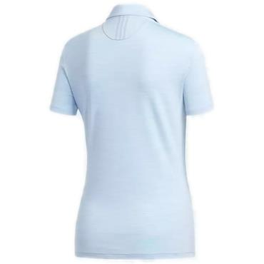 Adidas Ladies Essential 3 Stipe Polo Shirt Blue Heather