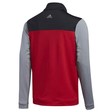 adidas Junior - Boys 1/2 Zip Layer Top Power Red