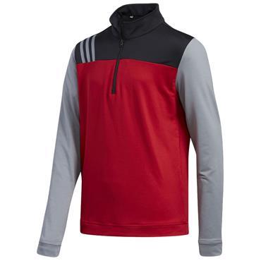 Adidas Junior - Boys 1/2 Zip Layer Top Power Red