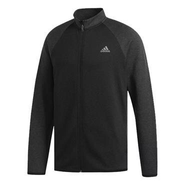 adidas Gents Climawarm Fleece Zip Sweater Black - Heather