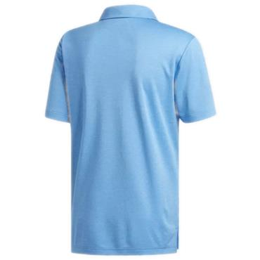 Adidas Gents 3-Stripes Heather Blocked Polo Shirt Blue - Heather