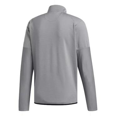 adidas Gents Climawarm Gridded 1/4  Zip Sweatshirt Grey