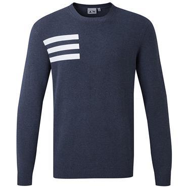 adidas Gents Blend Crew Sweater Navy - Melange