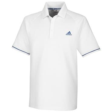 Adidas Gents Climacool Raglan Polo Shirt White