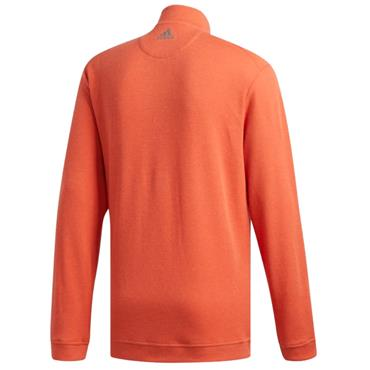 adidas Gents Wool 1/4 Zip Top Orange