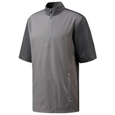 adidas Gents Short Sleeve Wind Top Grey